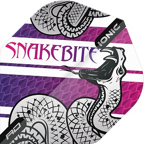 Flight-Set Polyester extra strong Ionic Standard Snakebite Purple Peter Wright