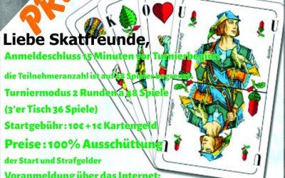 Preis-Skatturnier am 15.März 2020