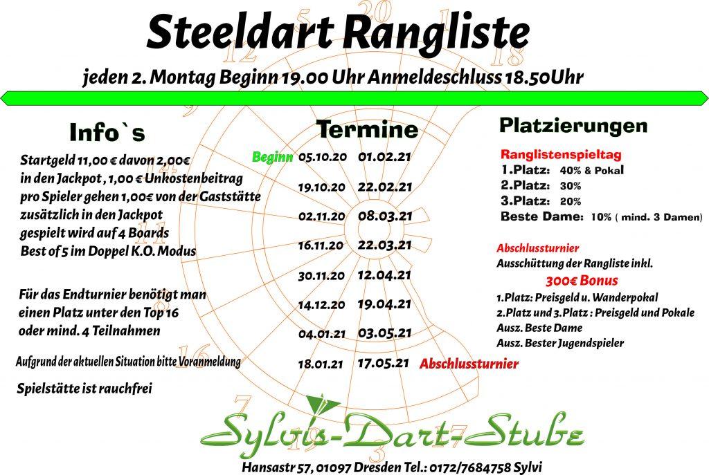 Ranglistenturnier - Steel-Dart
