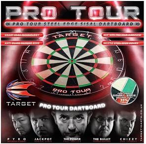 Target Pro Tour Steel Edge Sisal Dartboard