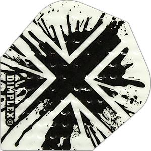 Harrows Dimplex Flights (black/white/England)