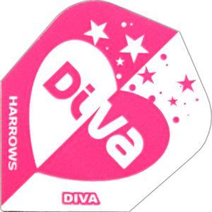 HarrowsDivaStandard Flights mit einem Diva/Herz