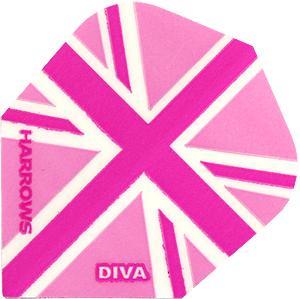Harrows Diva Standard Flights (pink Lady England)