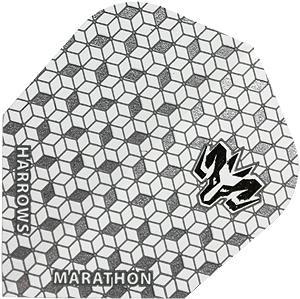 Harrows Marathon Standard Flightin der Farbe silber/glänzend.